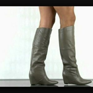 Report Waldron Wedge Knee Boots, Taupe